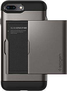 Spigen Slim Armor CS iPhone 8 Plus Case/iPhone 7 Plus Case with Slim Dual Layer Wallet Design and Card Slot Holder for Apple iPhone 8 Plus 2017 / iPhone 7 Plus (2016) - Gunmetal