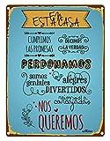 Enkolor/Chapas Decorativas Pared/Carteles Vintage/Decoración Rústica/Placa Retro para tu...