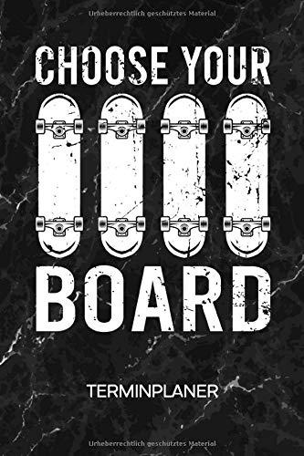 TERMINPLANER: Skateboarder Kalender Mo. bis So. - Rollbretter Terminkalender - Skate Decks Wochenplaner Rollbrett Taschenkalender für To-Do Liste & Termine - Skateboard Skating Motiv