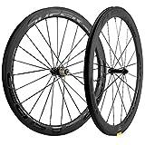 700c wheelset carbon - Superteam 50/25mm UD Matte Finish Wheel 700c Carbon Wheelset Clincher (Black)