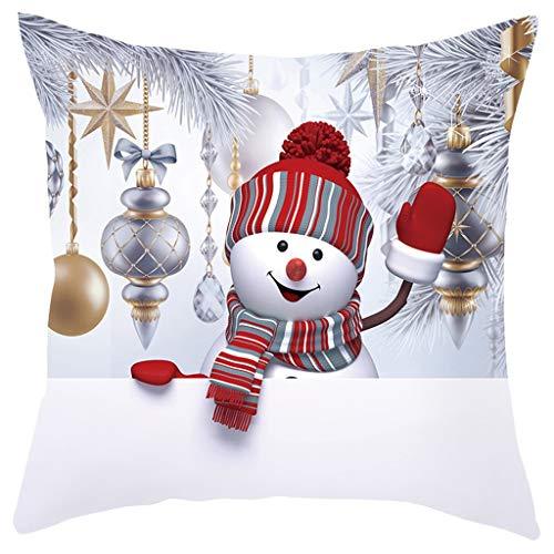 Amhomely® Weihnachten Pfirsichhaut-Kissenbezug, Weihnachts-Kissenbezug, Kissenbezug, für Schlafzimmer, Sofa, Stuhl, Dekoration für Zuhause, Büro Fotografie Requisiten