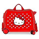 Hello Kitty Castle Maleta Infantil Rojo 50x39x20 cms Rígida ABS Cierre combinación 38L 2,3Kgs 4 Ruedas Equipaje de Mano