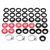 ShawFly 39pcs Garden Hose Rubber Washers Connector Gasket Filter Wire Mesh Gasket