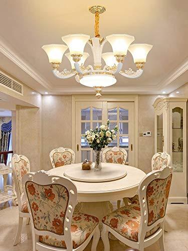 QTRT Estilo Europeo Araña Atmósfera Colgante para el hogar Luz Colgante Simple Lámpara de Hall Lámpara de Sala de Estar LED Lujoso Linterna Quemador Villa Tubo Dormitorio Restaurante Válvula
