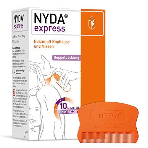 NYDA express Läusemittel - schnell und effektiv gegen Kopfläuse und Nissen, 2x50 ml