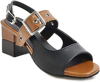 BalaMasa Womens APL12426 Pu Heeled Sandals
