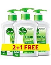 Dettol Original Anti-Bacterial Liquid Hand Wash 200ml 2+1 Free