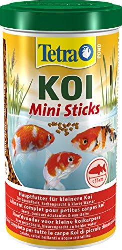 Tetra Pond Koi Mini Sticks – Koifutter für farbenprächtige Fische und eine verbesserte Wasserqualität, 1 Liter