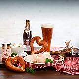 WURSTBARON® Weißwurst Premium Paket - Set aus Weißwürsten, Brezeln, Weißbier, süßem Senf - ideales Frühstücks-Geschenk