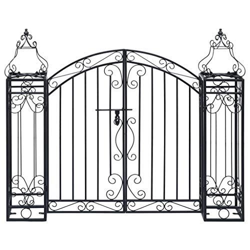 vidaXL Puerta de Jardín Decorativa en Forma de Arcos Entrada Elegante Proteger...