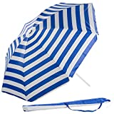 Royal Gardineer Strandschirm: 2-teiliger Sonnenschirm mit Sonnenschutz UV30+ und Tasche, Ø 160 cm (Strandsonnenschirm)