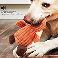 犬の攻撃的な咀嚼のための無毒な7.5インチのきしむぬいぐるみペットのおもちゃ、犬のきしむおもちゃ(dog)