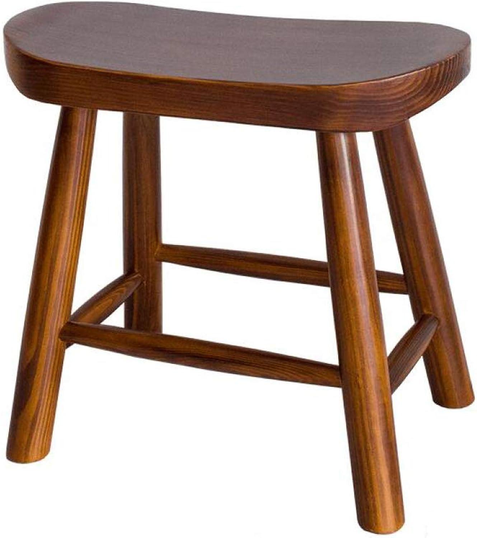 SSHHI Solid Wood Stool,Living Room Household Dinning Table Stool,Kitchen Square Stool Foot Stool,Vintage Simple Stools Indoor