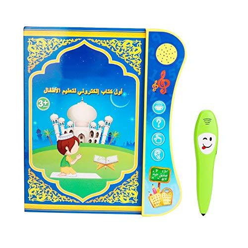 Hztyyier Englisch Arabisch Elektronisches Lernbuch für Kinder Pädagogisches Lehrbuch mit Smart Logic Pen Baby Interaktives Spielzeug
