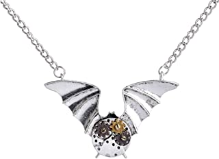 Gnzoe Jewelry Mens Stainless Steel and Silver Littel Angel Pendant Necklace