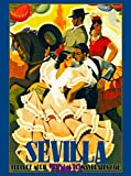 TYmall Jigsaw Puzzles for Kids Children 200 Pieces 1946 Sevilla Seville Spain Europe European Vintage Travel Advertisement Poster Funny Wooden Puzzle for Boys and Girls