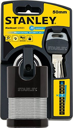 Stanley 50 mm 2 Keys Shrouded Laminated Padlock