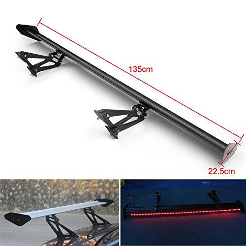 Areyourshop - Alerón trasero universal de aluminio con luz roja #E1 para Sedan GT
