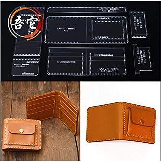 JD 二つ折り財布 アクリル型紙 レザークラフト用品 (13)