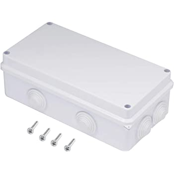 Lemotech Abs Plastic Dustproof Waterproof Ip55 Junction Box Universal Electrical Project Enclosure White D3 1 X H2 D80mm X H50mm Amazon Com
