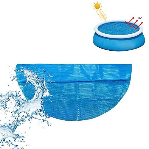 likeitwell Runder Pool Solarabdeckungsschutz, Solarabdeckung für Pool Easy Set und Rahmen Pools Runder Poolabdeckungsschutz Fuß über dem Boden Blauer Schutz Schwimmen-360x360cm