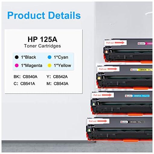 Sizzler Compatible HP 125A Cartucho de tóner CB540A CB541A CB542A CB543A para HP Color LaserJet CM1312 CM1312 mfp… 3