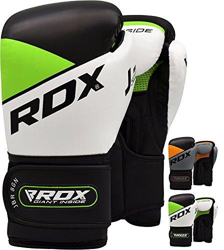 RDX Kinder Boxhandschuhe für Muay Thai und Training Maya Hide Leder Junior 6oz Punchinghandschuhe für Sparring, Kampfsport, Kickboxen, Boxsack, Fitness, Sandsack Boxing Gloves (MEHRWEG)