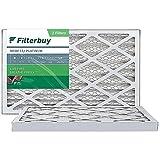 FilterBuy 10x30x1 Air Filter MERV 13, Pleated HVAC AC Furnace Filters (2-Pack, Platinum)