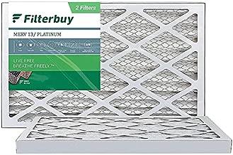 FilterBuy 20x36x1 Air Filter MERV 13, Pleated HVAC AC Furnace Filters (2-Pack, Platinum)
