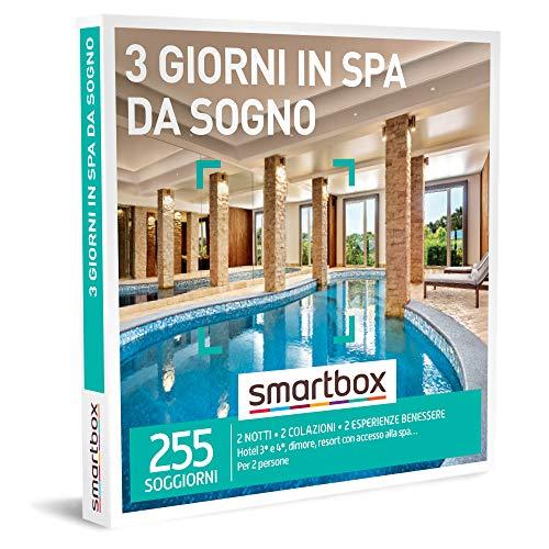 smartbox - Cofanetto Regalo - 3 Giorni in Spa da Sogno - Idee Regalo - 2 Notti con Colazione e 2 Pause Benessere per 2 Persone