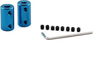 ZRM&E 2-Pack 5-8mm Aluminium Alloy Couplings Shaft DIY Car Boat Airplane Model Shaft Fitting Accessory 3D Printers Parts Motor Rigid Coupler Connector Blue
