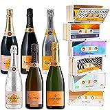 Champagne Veuve Clicquot - Carte Jaune/Rosé/Rich/Rich Rosé/Vintage Brut 2012 / Vintage Rosé 2008 - Sous 6 caissettes Edition limitée'Tape'