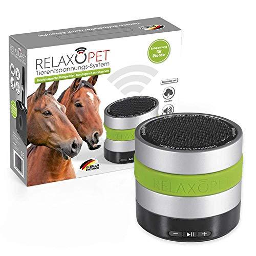 RelaxoPet Entspannungsgerät | Pferd; Version 2.0 | inkl. Transportkoffer | Beruhigung durch Klangwellen | Ideal bei Gewitter, Feuerwerk oder auf Reisen | Hörbar und unhörbar | 5V, kabellos