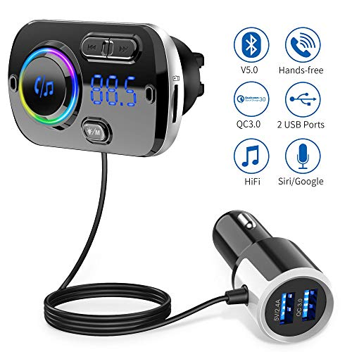Upgrade Transmisor FM Bluetooth 5.0 Coche Manos Libres