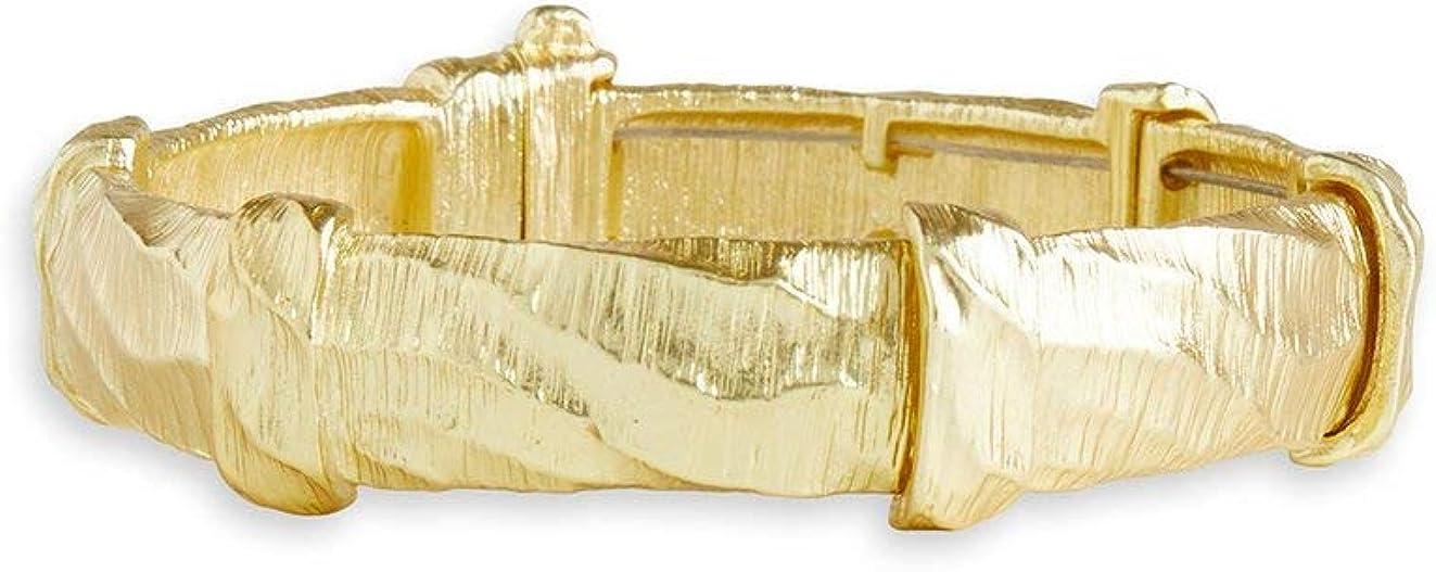 MISOOK Hammered Gold Bangle Bracelet Unique, Hand-Crafted Look -