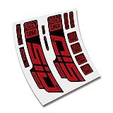 CUAC REVOLUTION Pegatinas Horquilla ROCKSHOX SID SL Ultimate 2020/2021 BTT MTB Fork Stickers AUFKLEBER ADESIVI Bike Decals (Rojo)