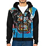 RobertAGonzalez Jean-Michel Basquiat Men Jacket Hoodie Full Zip Sweatshirt Outwear Warm Coats L Black