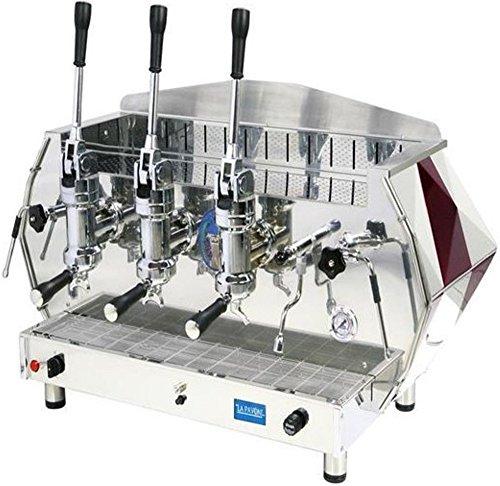 Best Price La Pavoni DIA 3L-R 3-Group Diamante Lever Espresso Coffee Machine, Ruby Red, 22.5L Boiler...