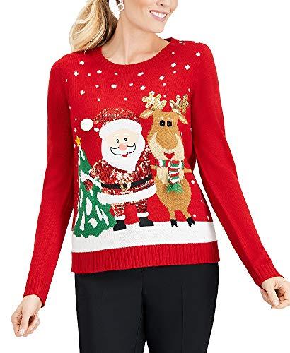 Karen Scott Petite Santa & Reindeer trui
