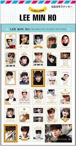 イ・ミンホ (LEE MIN HO) 記念 切手 シール ステッカー (Celebrate Stamp Sticker) [29ピース] グッズ