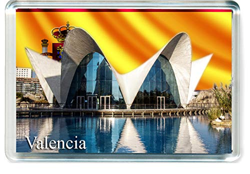 H256 Valencia Imán para Nevera Spain Travel Fridge Magnet
