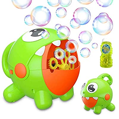 Bubble Machine, Bubble Toy for Kids Automatic Bubble Machine 3000 Bubbles Per Minute, Durable Bubble Blower for Kids, Party, Wedding, Outdoor Indoor Games, Built-in Rechargeable Battery Bubble Toy by Jaydear