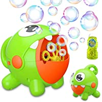 Jaydear Automatic Bubble Machine 3000 Bubbles Per Minute with Built-in Rechargeable Battery