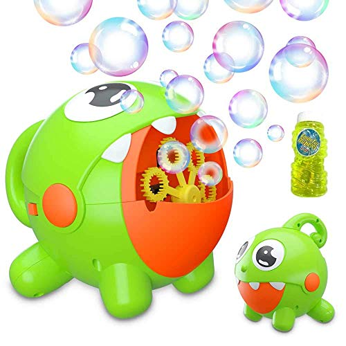 Bubble Machine, Bubble Blower for Toddlers, Automatic Bubble Maker 3000+ Bubbles/min, Portable Bubble Toys for Kids, Party, Wedding, Outdoor Indoor Games, Rechargeable Battery Bubble Blowing Machine