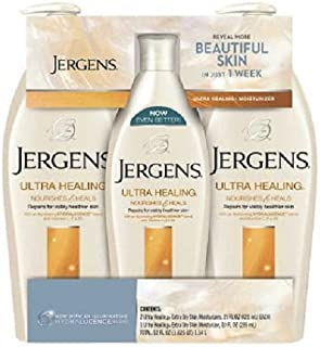 Jergens Ultra Healing Lotion Triple Pack 2/21 oz. bottles and 1/10 ounce bottle