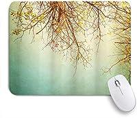 VAMIX マウスパッド 個性的 おしゃれ 柔軟 かわいい ゴム製裏面 ゲーミングマウスパッド PC ノートパソコン オフィス用 デスクマット 滑り止め 耐久性が良い おもしろいパターン (春咲く新鮮な葉のプリントと自然ヴィンテージの木の花の枝)