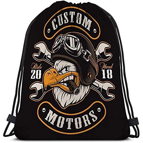 Gym Sport Drawstring Bag Adler Biker Farbe Version American Eagle Zigarre Motorradfahrer helme.jpg