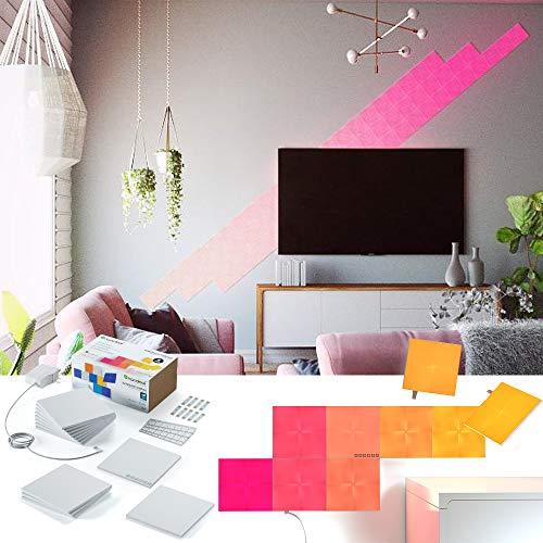 nanoleaf Canvas 13er Set | LED-Panel mit Touch-Steuerung, App Steuerung, 16 Millionen Farben | Sprachsteuerung, Apple HomeKit & google assistant kompatibel, Plug & Play, viereckig