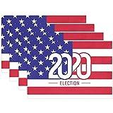 Dy Aari Juego de 6 manteles electorales 2020 de la Bandera de EE. UU, Tapete de Mesa de poliéster