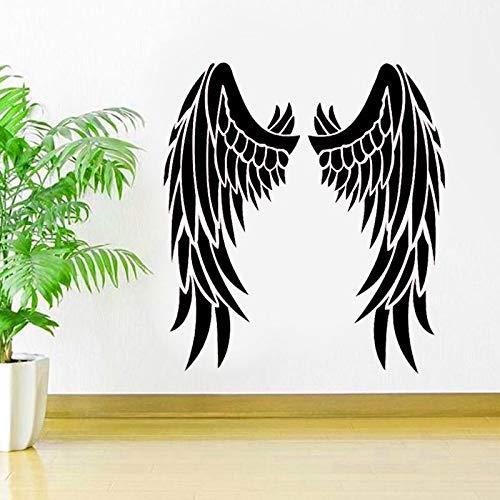 JXCDNB Engelsflügel Autofenster Vinyl Aufkleber Aufkleber Inspiration Himmel Religion Dekoration Idee Schlafzimmer Innenwand Kunst Wandbild 57x63cm